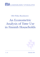 An Econometric Analysis of Time Use in Finnish Households - A41