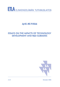 essays on the impacts of technology development and r d subsidies  essays on the impacts of technology development and r d subsidies