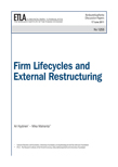 Firm Lifecycles and External Restructuring - dp1253
