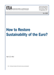 How to Restore Sustainability of the Euro? - dp1259