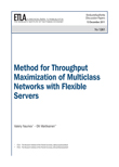 Method for Throughput Maximization of Multiclass Networks with Flexible Servers - dp1261