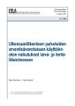 Ulkomaanliikenteen palveluiden arvonlisäverotuksen käyttöönoton vaikutukset laiva- ja lentoliikenteeseen - dp1266