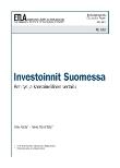 Investoinnit Suomessa. Kehitys ja kansainvälinen vertailu - dp1267