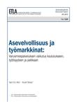 Asevelvollisuus ja työmarkkinat:Varusmiespalveluksen vaikutus koulutukseen, työllisyyteen ja palkkaan - dp1269