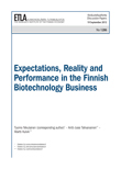 Expectations, Reality and Performance in the Finnish Biotechnology Business - dp1286