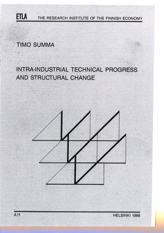 Intra-Industrial Technical Progress and Structural Change. An Application of the Frontier and Short-Run Industry Production Functions Based on Micro-Data - A11