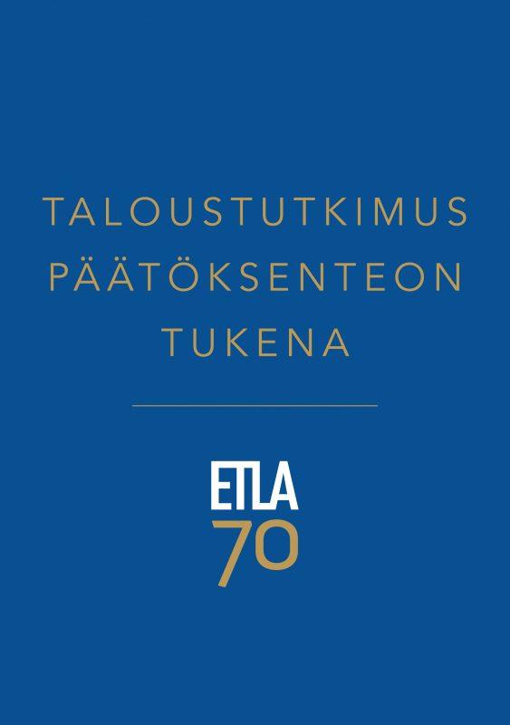 Taloustutkimus päätöksenteon tukena - ETLA-B273