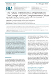 The Future of Internet Era Organizations – The Concept of Chief Complementary Officer - ETLA-Muistio-Brief-15
