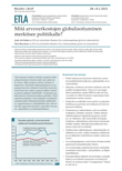 Mitä arvoverkostojen globalisoituminen merkitsee politiikalle? - ETLA-Muistio-Brief-28