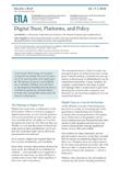 Digital Trust, Platforms, and Policy - ETLA-Muistio-Brief-42