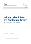 Nokia's Labor Inflows and Outflows in Finland: Observations from 1989 to 2010 - ETLA-Raportit-Reports-10