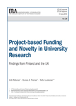 Project-based Funding and Novelty in University Research – Findings from Finland and the UK - ETLA-Raportit-Reports-29
