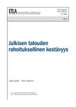 Julkisen talouden rahoituksellinen kestävyys - ETLA-Raportit-Reports-3