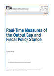 Real-Time Measures of the Output Gap and Fiscal Policy Stance - ETLA-Raportit-Reports-37