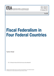 Fiscal Federalism in Four Federal Countries - ETLA-Raportit-Reports-38