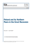 Finland and Its Northern Peers in the Great Recession - ETLA-Raportit-Reports-49