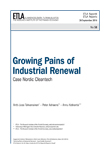 Growing Pains of Industrial Renewal – Case Nordic Cleantech - etla-raportit-reports-58