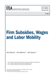 Firm Subsidies, Wages and Labor Mobility - etla-raportit-reports-60
