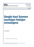 Predicting housing prices with Google searches in Finland - ETLA-Raportit-Reports-63