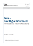 Euro – How Big a Difference: Finland and Sweden in Search of Macro Stability - ETLA-Raportit-Reports-7