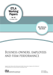 Business Owners, Employees and Firm Performance - etla-working-papers-42