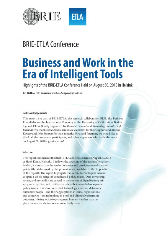 BRIE-ETLA Conference Notes – Business and Work in the Era of Intelligent Tools - BRIE-ETLA-Highlights-2018