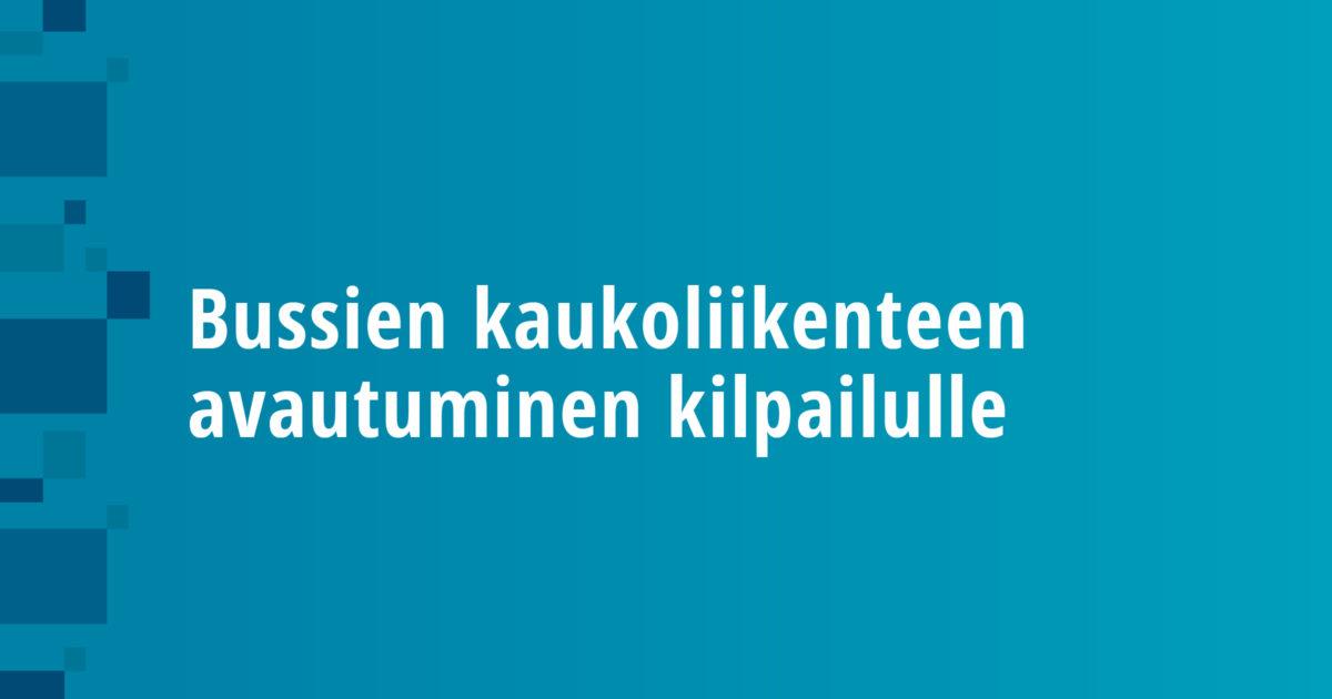 Deregulation of the Finnish Long-distance Bus Market