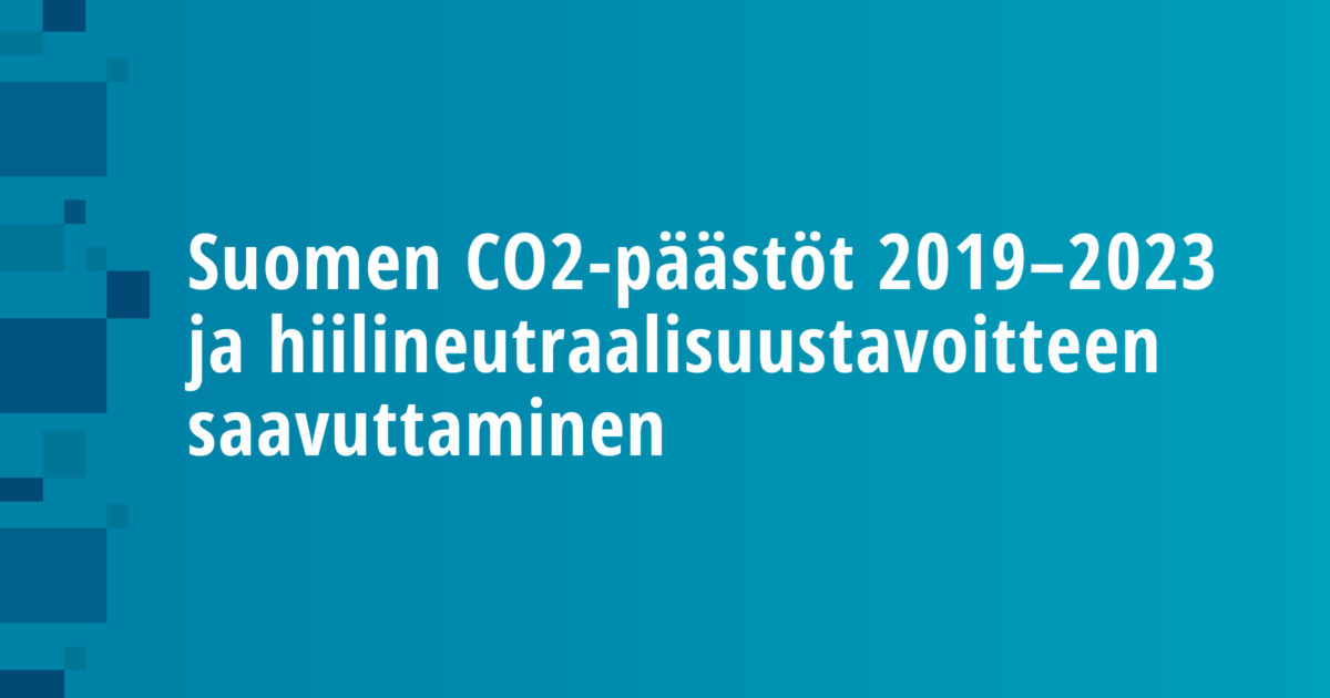 CO2 Emissions in Finland 2019–2023 and the Carbon Neutrality Objective