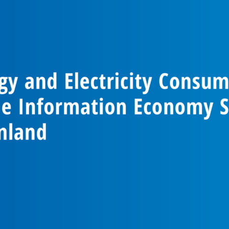 Energy and Electricity Consumption of the Information Economy Sector in Finland