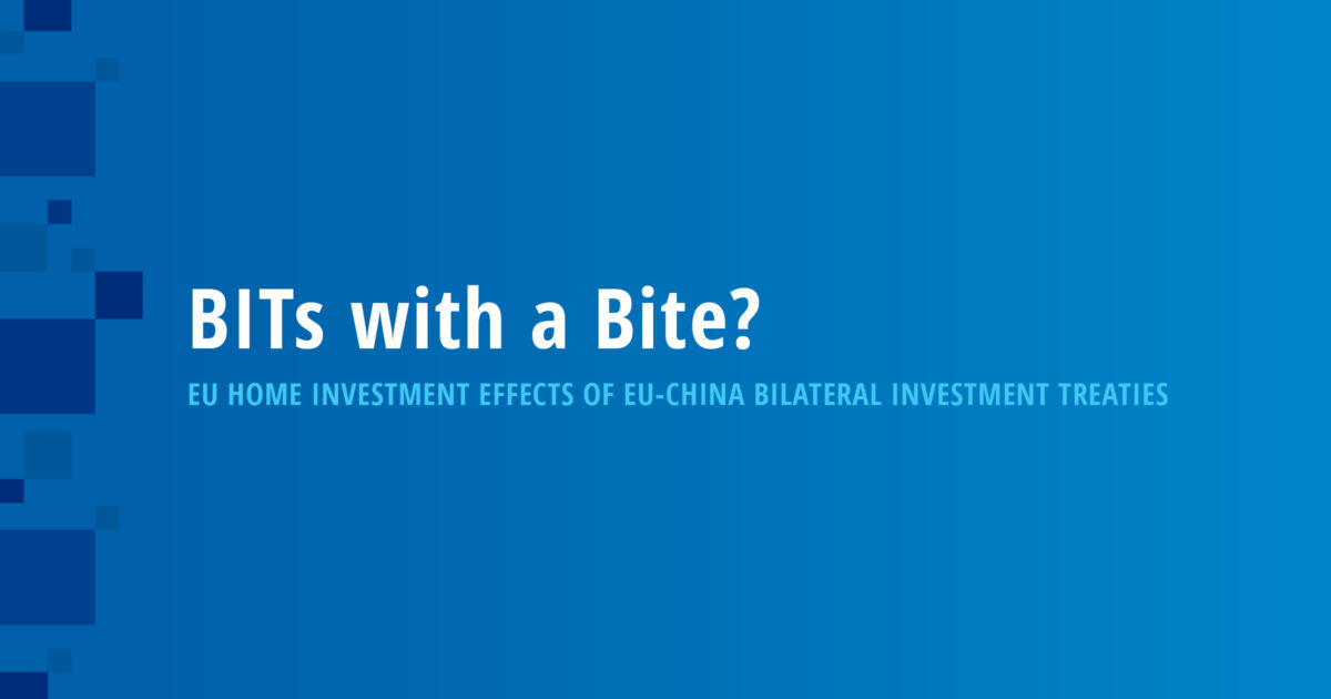 BITs with a Bite? EU Home Investment Effects of EU-China Bilateral Investment Treaties