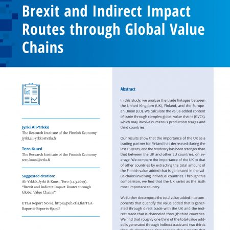 Brexit and Indirect Impact Routes through Global Value Chains