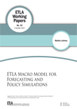 ETLA Macro Model for Forecasting and Policy Simulations - ETLA-Working-Papers-54