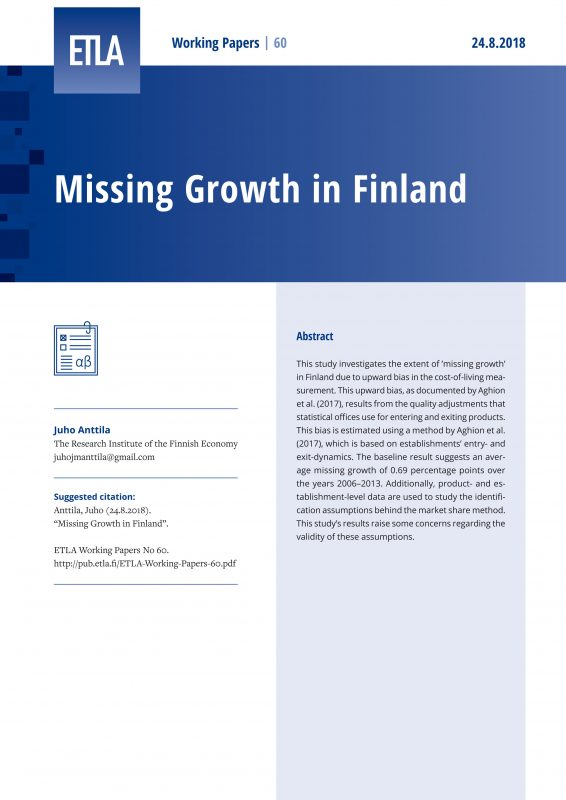 Missing growth in Finland - ETLA-Working-Papers-60