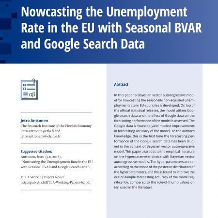 Nowcasting the Unemployment Rate in the EU with Seasonal BVAR and Google Search Data