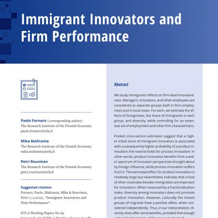 Immigrant Innovators and Firm Performance