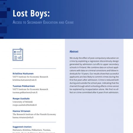Lost Boys: Access to Secondary Education and Crime