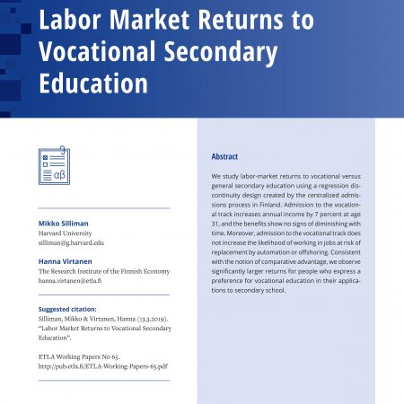 Labor Market Returns to Vocational Secondary Education