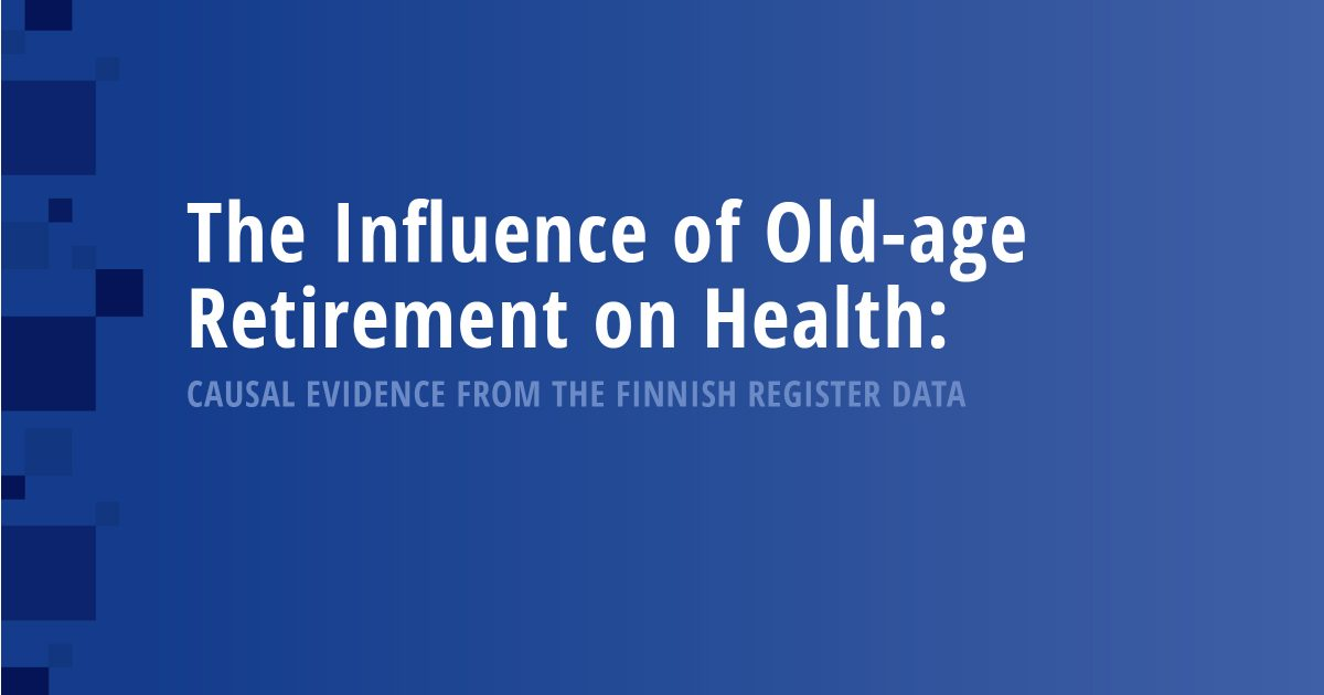 The Influence of Old-age Retirement on Health: Causal Evidence from the Finnish Register Data
