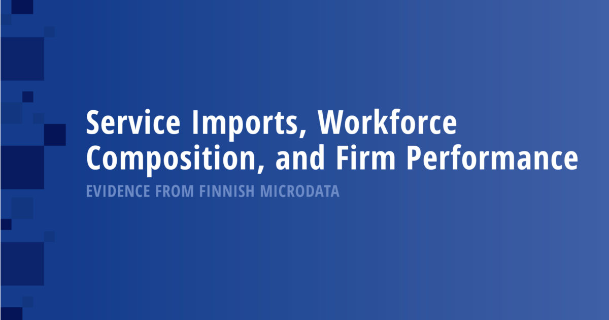 Service Imports, Workforce Composition, and Firm Performance: Evidence from Finnish Microdata