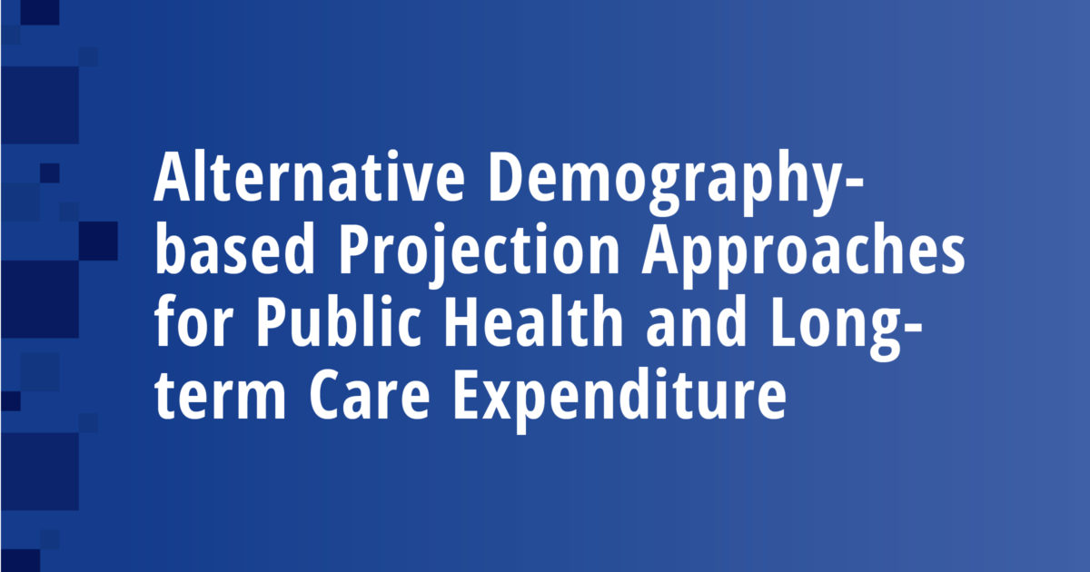 Alternative Demography-based Projection Approaches for Public Health and Long-term Care Expenditure