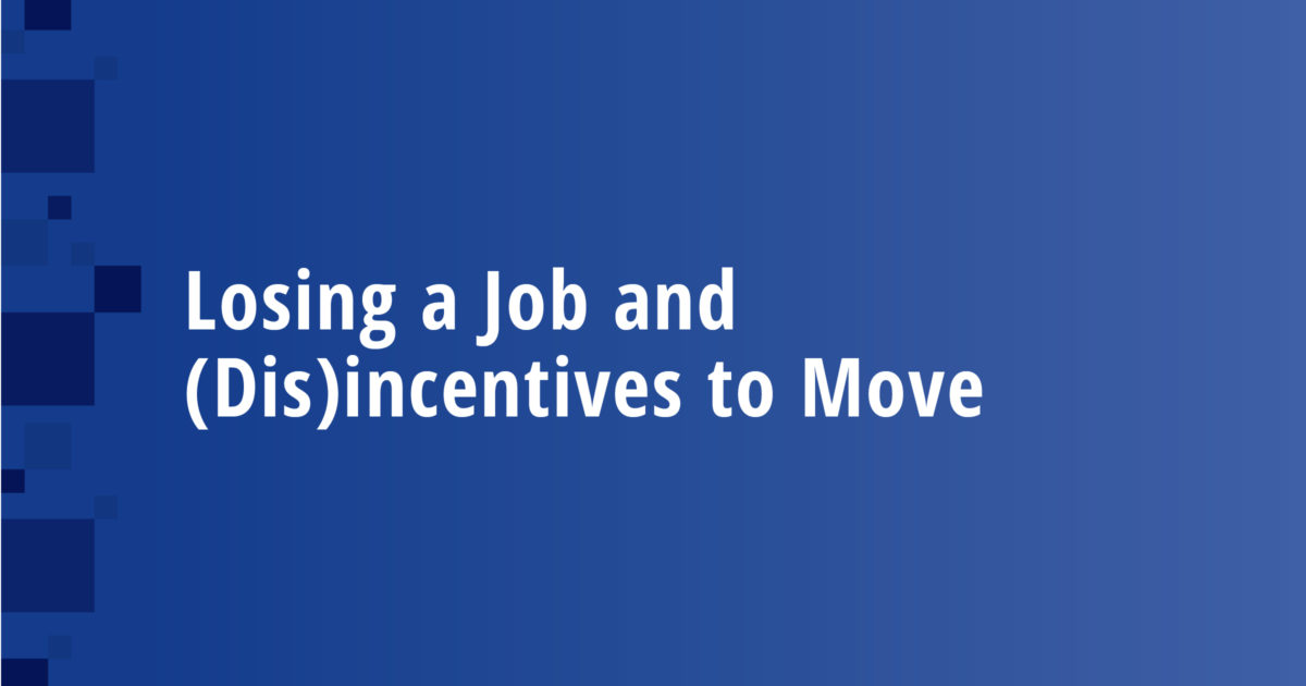 Losing a Job and (Dis)incentives to Move