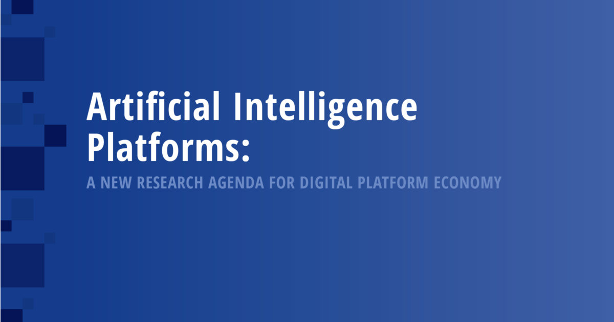 Artificial Intelligence Platforms – A New Research Agenda for Digital Platform Economy
