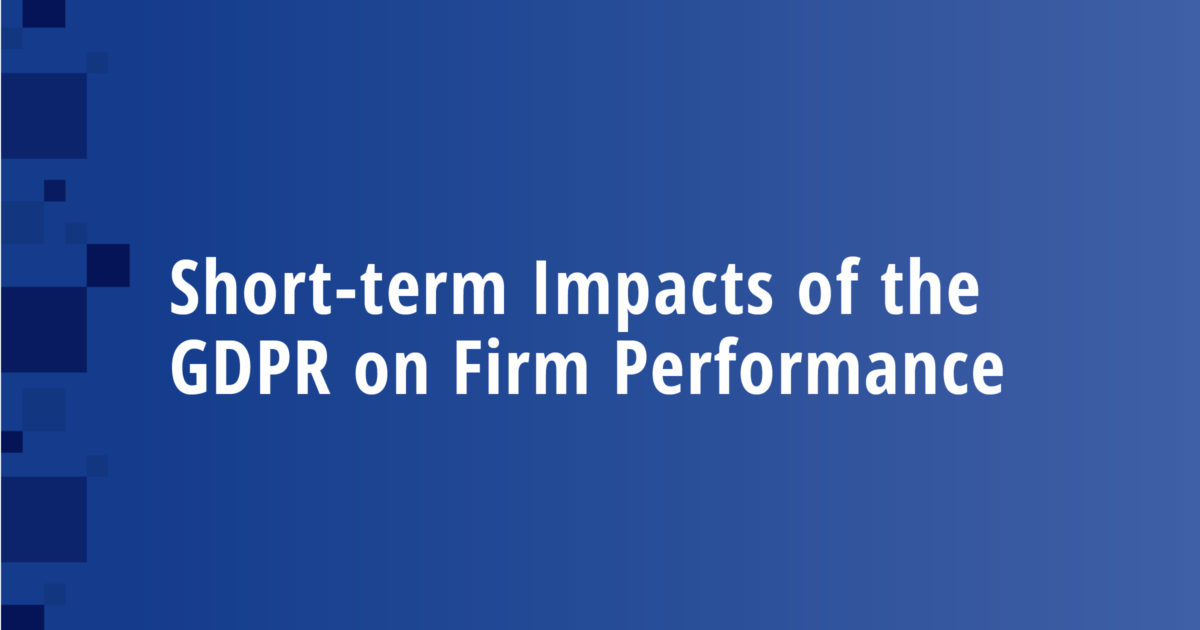 Short-term Impacts of the GDPR on Firm Performance