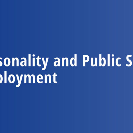 Personality and Public Sector Employment