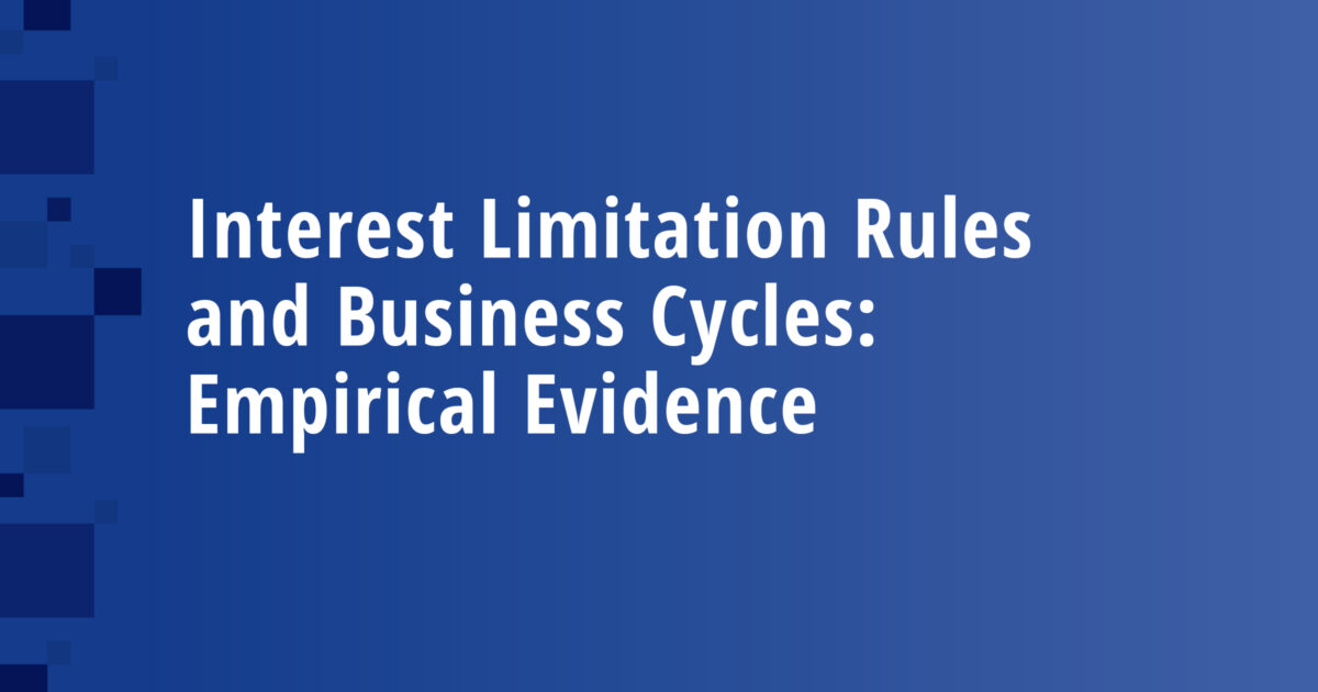 Interest Limitation Rules and Business Cycles: Empirical Evidence