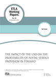 The Impact of the USO on the Profitability of Postal Service Provision in Finland - ETLA-Working-Papers-22