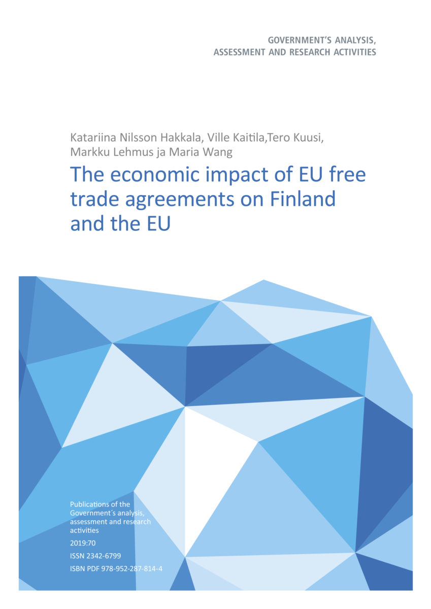 The Economic Impact of EU Free Trade Agreements on Finland and the EU
